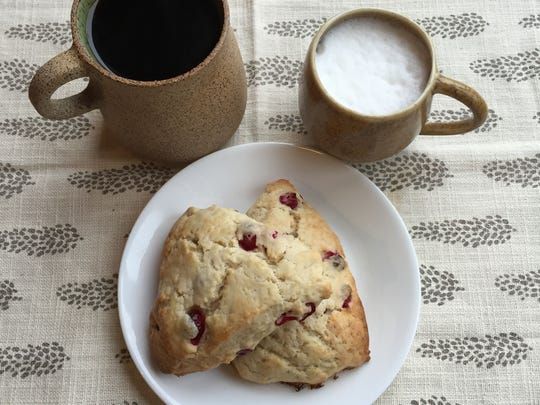 Scones and coffee at Twisted Tree Cafe in Asbury Park.