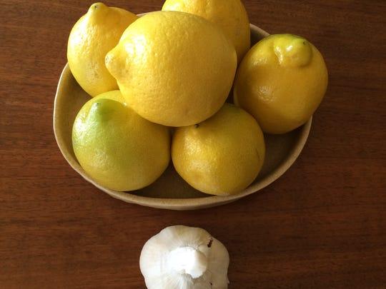 Lemons and garlic, Greek cooking's best friends