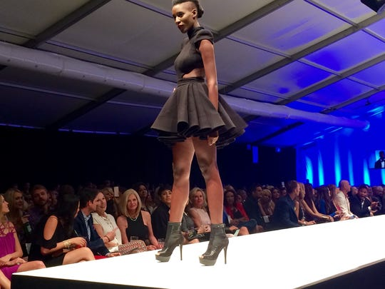 Fashion designer Michael Costello showed his spring/summer collection on Wednesday during Fashion Week El Paseo.