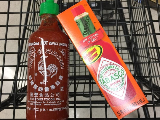 Sriracha has a thicker consistency than Tabasco and packs a garlicky, tangy punch.