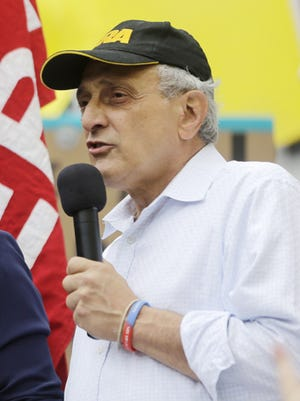 Carl Paladino speaks at a gun rally in Albany in 2013.