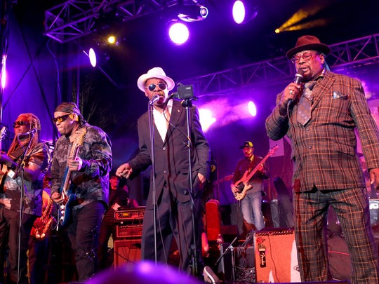 George Clinton performs at the 2015 National Association