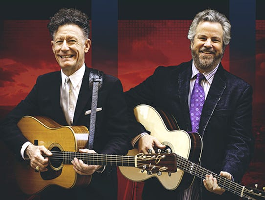 Tuesday's concert with Lyle Lovett (left) and Robert