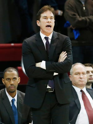 Southern Methodist Mustangs associate head coach Tim Jankovich calls a play in the second half against the UCF Knights at Moody Coliseum. SMU won 88-73.