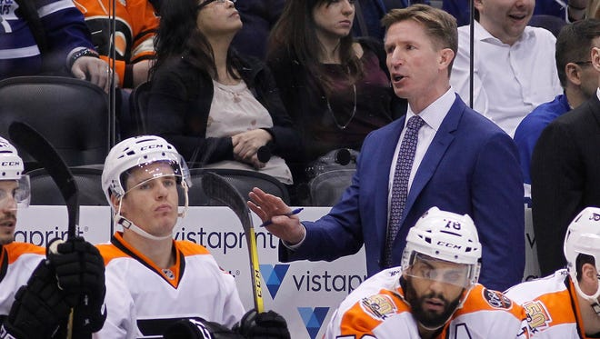 Coach Dave Hakstol opted to go with Michal Neuvirth in goal over the streaking Steve Mason.