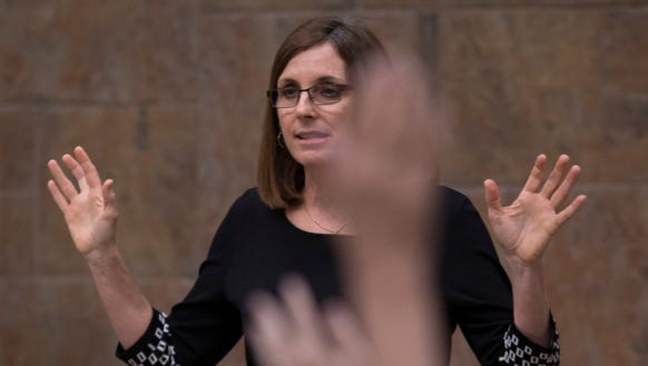 U.S. Rep. Martha McSally answers a question during