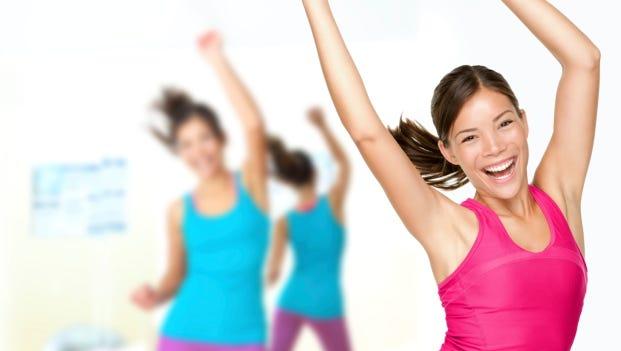 Fitness dance dancing class