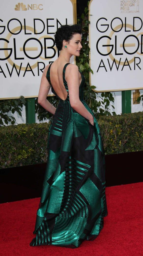 Jaime Alexander shines in an emerald green gown.