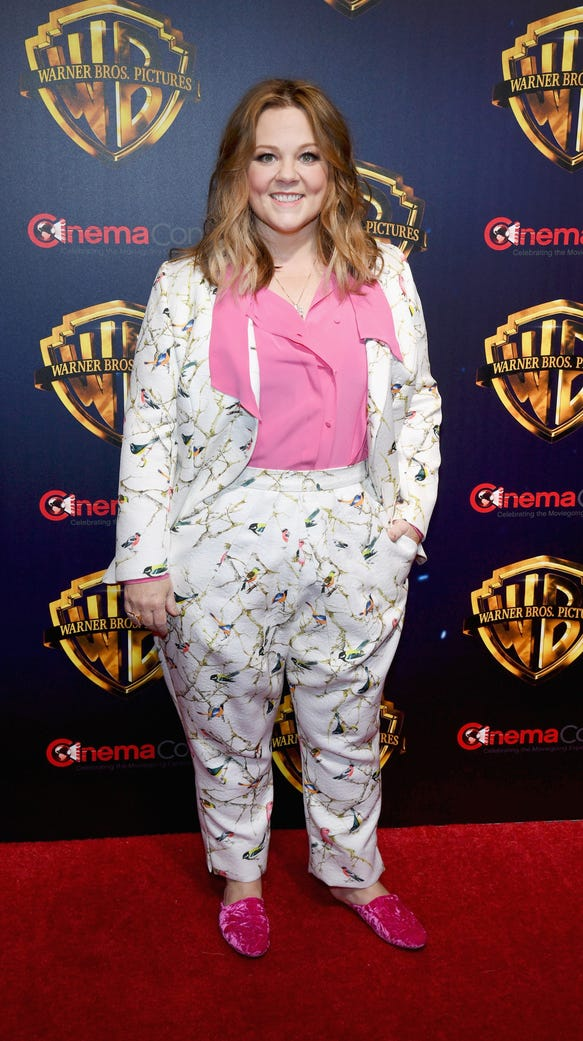 Melissa McCarthy said that trolls don't get to her and she's teaching them not to get to her daughters either, ages 11 and 8, by looking at them in a certain way.