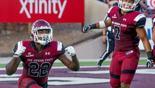 New Mexico State's Shamad Lomax was named Sun Belt