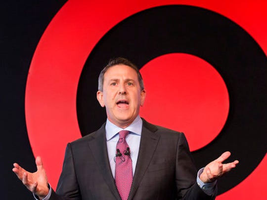 In this Wednesday, March 2, 2016, file photo, Target Chairman and CEO Brian Cornell speaks to a group of investors, in New York. On Monday, March 20, 2017, Cornell announced an ambitious redesign of Target's stores, aimed at helping people who need to dash in for essentials to get out quickly while encouraging those who want to wander the aisles to linger.