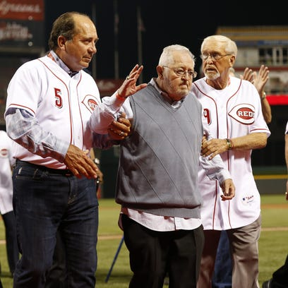 The Cincinnati Reds honored long time clubhouse manager
