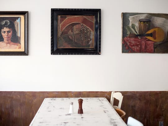 Family artwork decorated the interior of Bianco's Italian