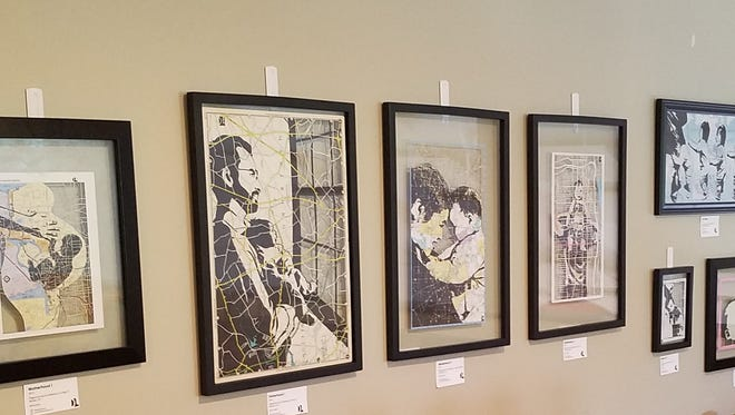 """Since September 2016, Lone Eagle Brewing in Flemington has displayed the work of local artists on its walls. Currently, the craft brewer is showcasing the creations of Bridgewater mixed-media artist Dan Landau, including the pieces in his current """"Fatherhood"""" series."""