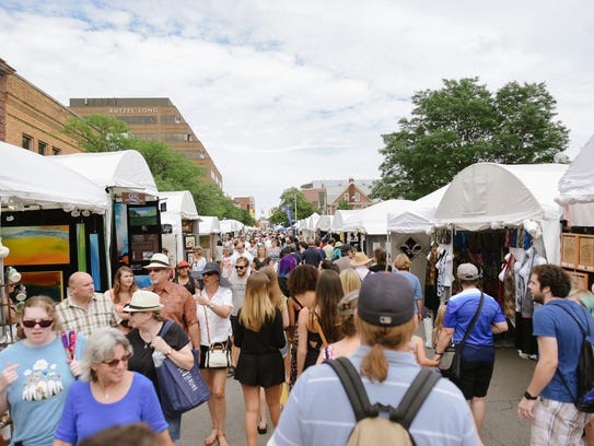 The Ann Arbor Summer Art Fair, pictured here in 2015,