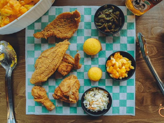 A photo showing food from Sugapeach Chicken and Fish