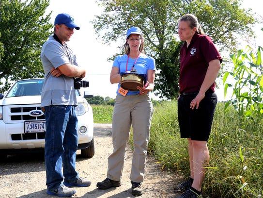 Bob Purcell (from left) Kathryn Zichelle Sullivan,