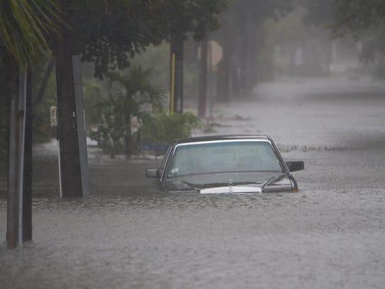 Hurricane Matthew in St. Augustine, Fla.