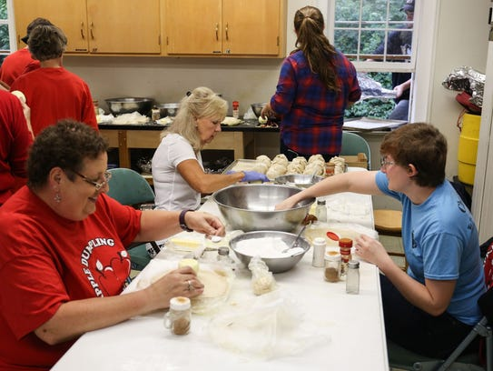 Apple Dumpling Gang members prepare another batch of