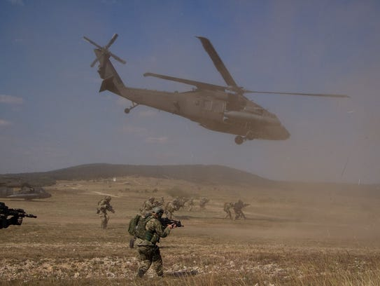 The 3-501st provides Black Hawk support for an air