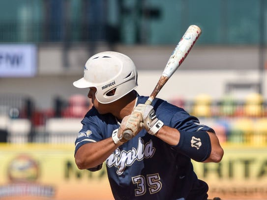 Chipola College outfielder Reynaldo Rivera.