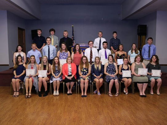 The Lancaster Rotary Club 2017 scholarship recipients