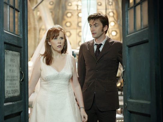 David Tennant and Catherine Tate as the Doctor and