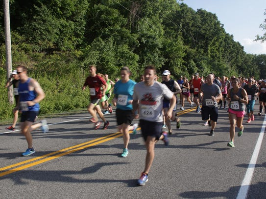 Pound the Ground for Veterans 5K and 10K races at Mendon