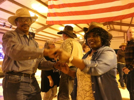 "Loretta Hudson and husband Calvin at the annual ""Shindig"","