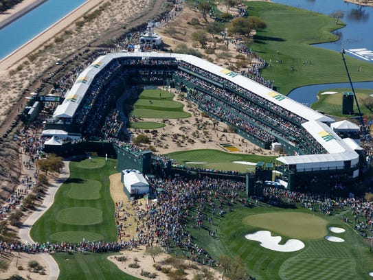 The enclosed 16th hole of the Phoenix Open has created