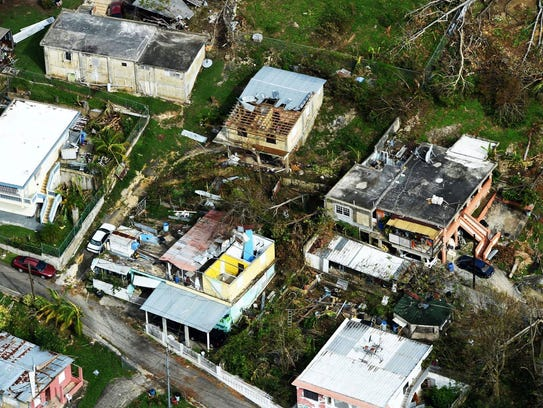 Damage from Puerto Rico  from Hurricane Maria