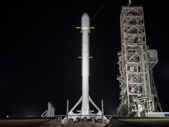 A SpaceX Falcon 9 rocket carrying the U.S. government's