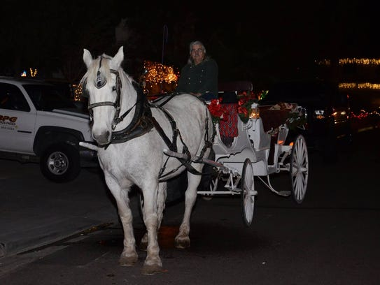 Visitors to Upland Drive can take a horse-drawn carriage