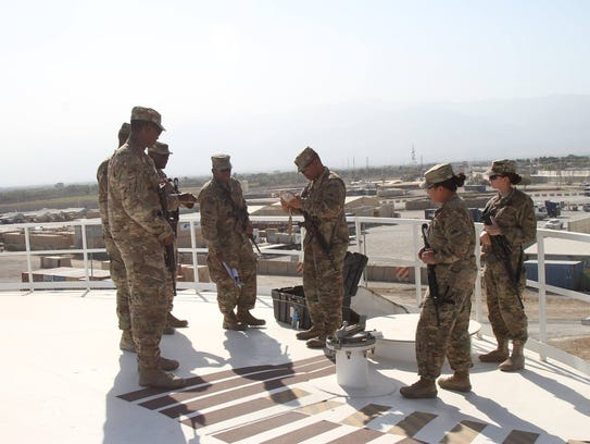Soldiers with the petroleum and water distribution