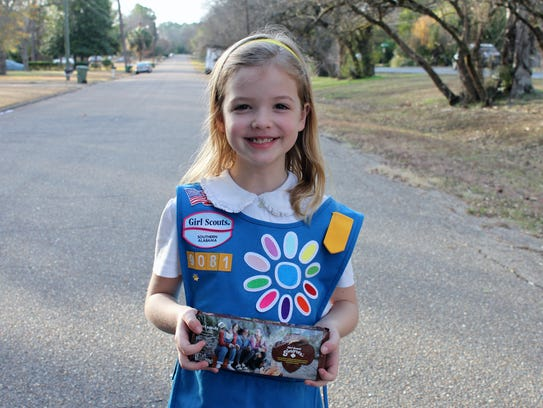 Girl Scouts will be showing off their cookie-selling