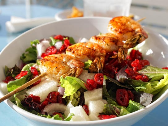 Water Street Oyster and Sushi Bar salad with grilled