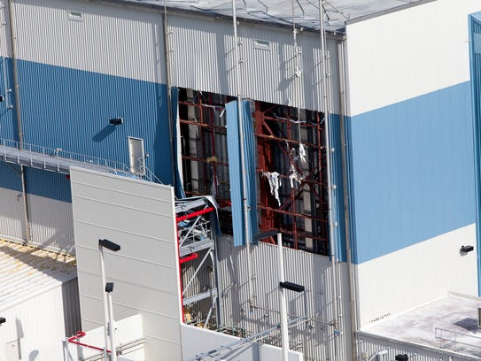 The Multi-Payload Processing Facility is seen during