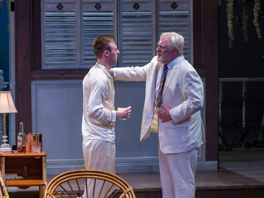 Grant Niezgodski (L) as Brick and Jim Hopkins as his