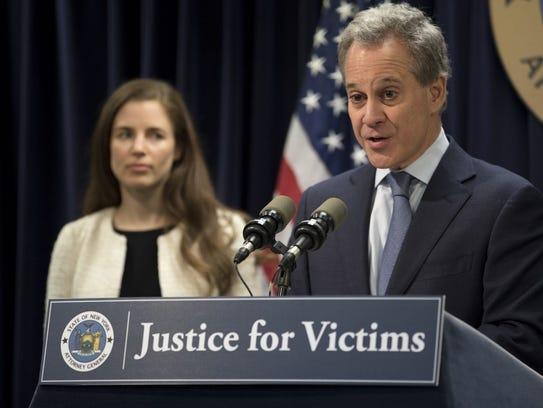 Now disgraced former Attorney General Eric Schneiderman
