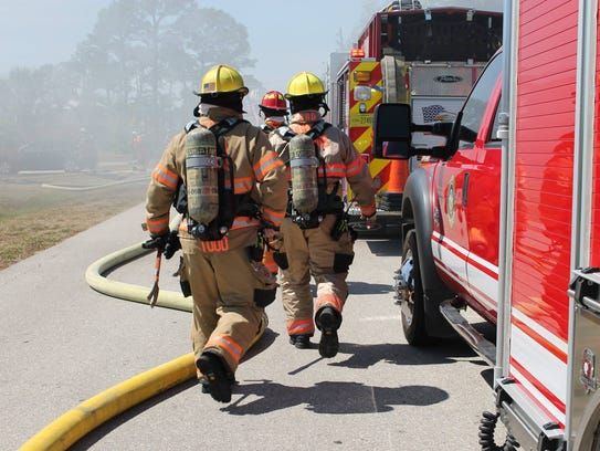 Bonita Springs firefighters battled a house fire on