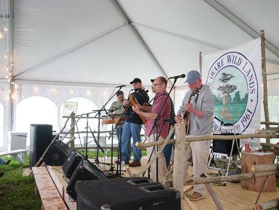 Flatland Drive plays during the 2017 Baldcypress Bluegrass