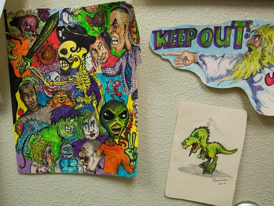Some of the doodles and cartoons that Daniel Ramondo,