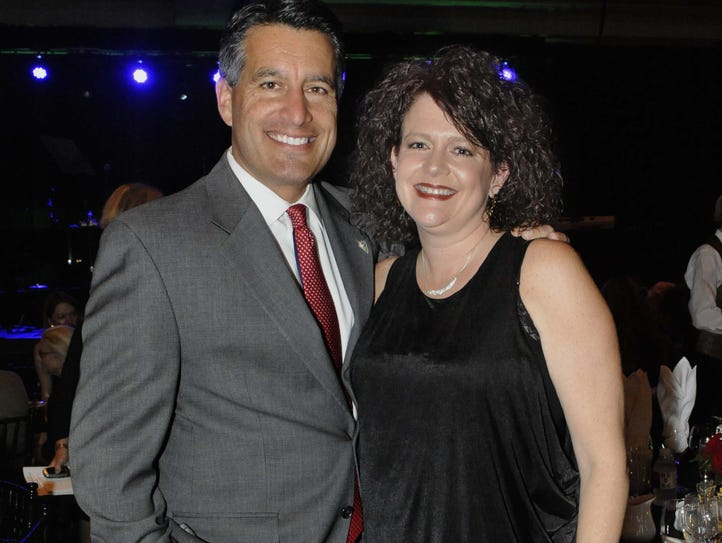 Gov. Brian and Kathleen Sandoval attend the 21st annual