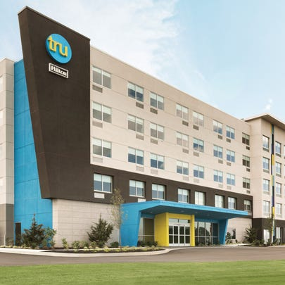 Developers have proposed building a Tru by Hilton hotel