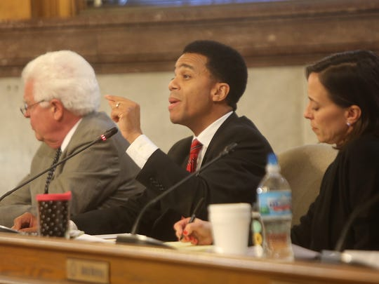 """City Council members such as David Mann, left, Christopher Smitherman and Amy Murray may disagree, but compromise lets the city make important progress, Mann says. Compromise is at the root of America's constitutional system, which, he says, """"requires the cobbling together of a majority of different points of view to achieve anything of value."""""""
