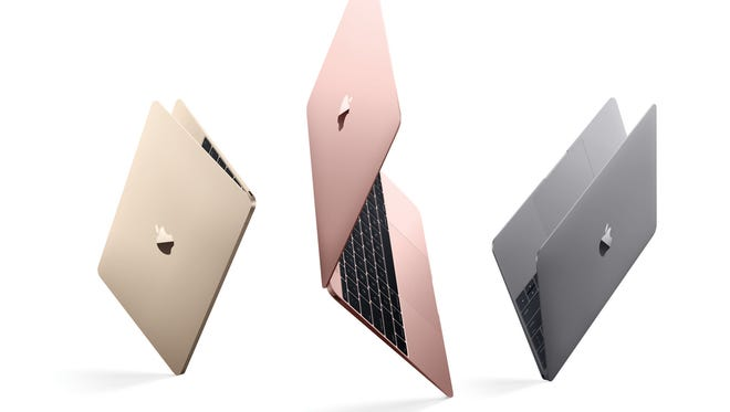 The new MacBooks include a rose color gold option.