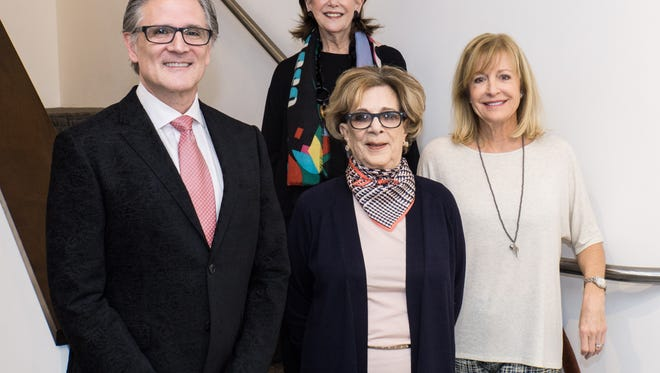 James Corona, owner of Heather James Fine Art with event chairs Susan Goldfine, Diane Gershowitz and BAM founder Selby Dunham.