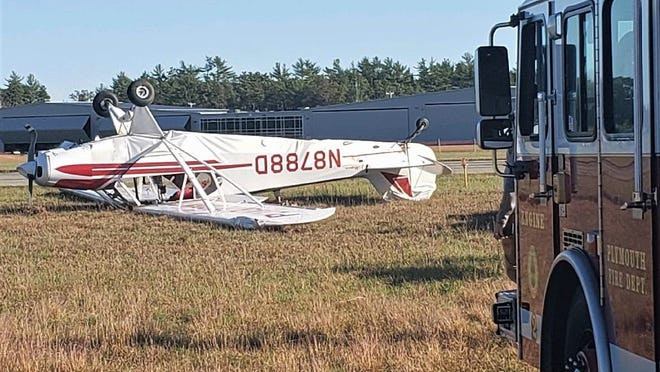 The Plymouth Fire Department responded to an accident at Plymouth airport Thursday. Minor injuries were reported.