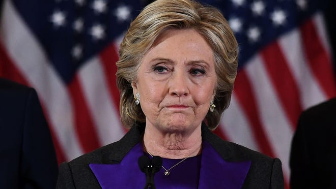 Hillary Clinton delivers her concession speech after losing Nov. 8 to Donald Trump.