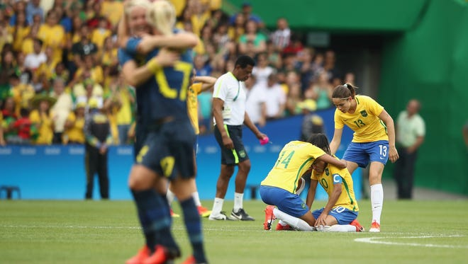 With the U.S. eliminated, the host country had hoped Marta and Co. would be in Friday's soccer final, but the Swedes had other ideas.